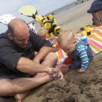 Until Daddy was ready to dig in the sand!