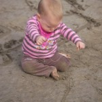 It was great to feel the sand slip between our fingers