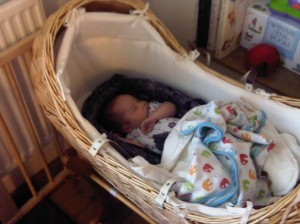 Baba Sling in a crib