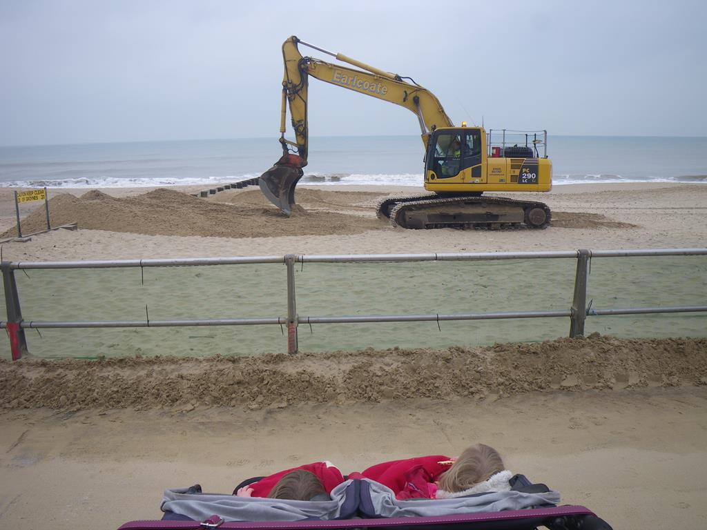 Diggers and Sand at Southbourne