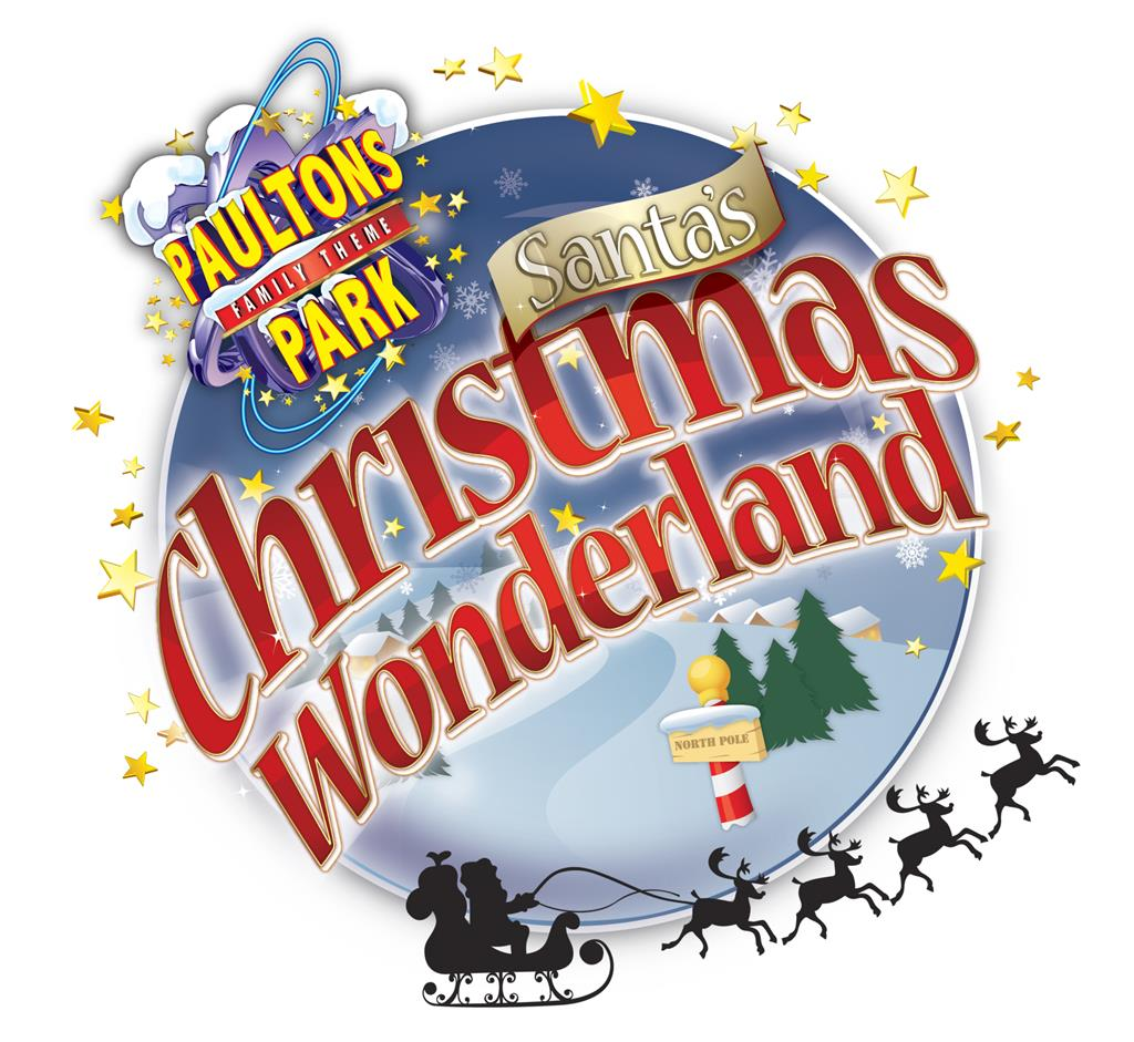 Christmas wonderland logo plus silhouette