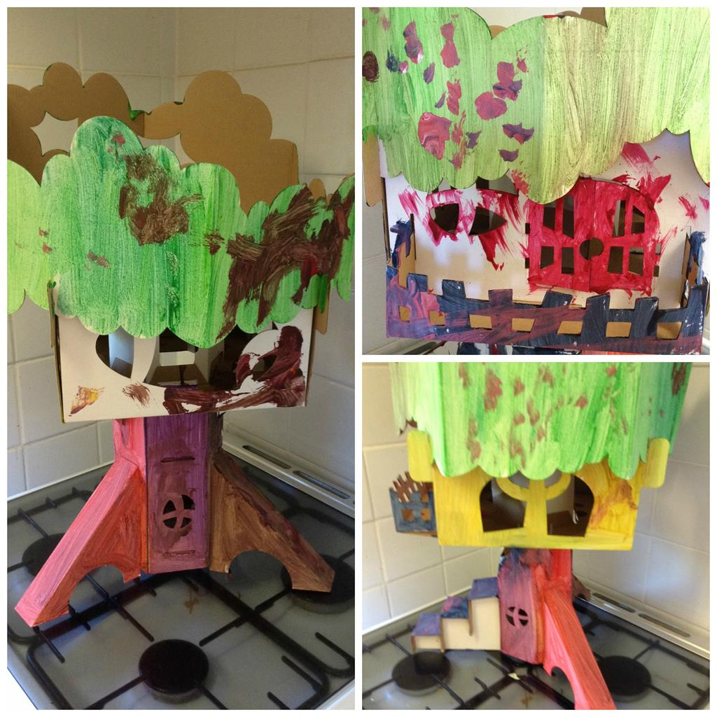 rainbow apple tree house